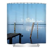 This Is The Morning View Of Pine Island Shower Curtain