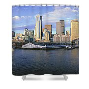 This Is The Skyline And Harbor Shower Curtain