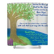 """This Is What The Lord Says: """"cursed Shower Curtain"""