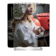 This Little Lady Gives Halloween Candy 5962vg Shower Curtain