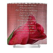 This Little Rose On Digital Linen Shower Curtain