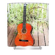 This Old Guitar Shower Curtain