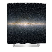 This Panoramic View Encompasses Shower Curtain