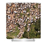 This Small But Dense Town Is Located Shower Curtain
