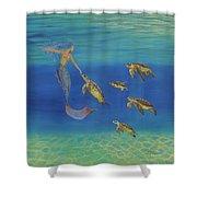 Swim This Way Shower Curtain