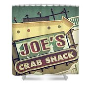 This Way To Joe's Crab Shack Shower Curtain