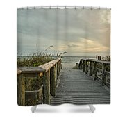This Way To The Beach Shower Curtain