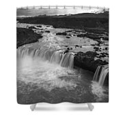 Thofafoss Waterfall Iceland 1538 Shower Curtain