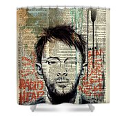 Thom Yorke Shower Curtain