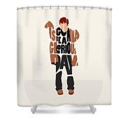 Thom Yorke Typography Art Shower Curtain