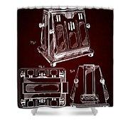 Thomas A. Edison Jr. Toaster Patent 1933 2 Shower Curtain