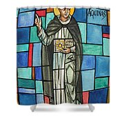 Thomas Aquinas Italian Philosopher Shower Curtain
