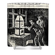 Thomas Edison (1847-1931) Shower Curtain