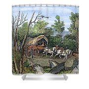 Thomas Hookers Migration Shower Curtain