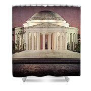 Thomas Jefferson Memorial At Sunset Artwork Shower Curtain