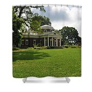 Thomas Jefferson's Monticello Shower Curtain by Bill Cannon
