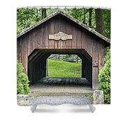 Thomas Malon Covered Bridge Shower Curtain