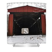 Thomas Mill Road Covered Bridge Shower Curtain