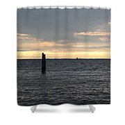 Thomas Point - The Morning Sun Over The Bay Shower Curtain
