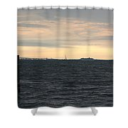 Thomas Point  - View Of The Bay Bridge Shower Curtain