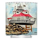 Thomas Point Lighthouse Shower Curtain