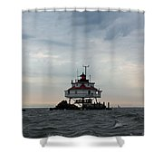 Thomas Point Shoal Lighthouse - Icon Of The Chesapeake Bay Shower Curtain