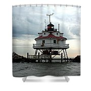 Thomas Point Shoal Lighthouse - Up Close Shower Curtain