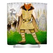 Thor Odinsson Shower Curtain by Ilias Patrinos