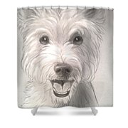 Thor The Westie Shower Curtain