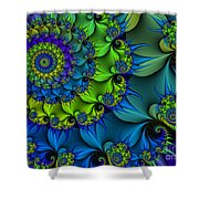 Thorn Flower Shower Curtain