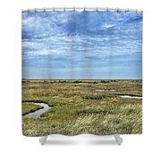 Thornham Marshes, Norfolk Shower Curtain