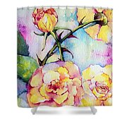 Thorns Have Roses Shower Curtain