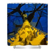Thorny Tree Blue Sky Shower Curtain