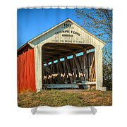 Thorpe Ford Covered Bridge Shower Curtain
