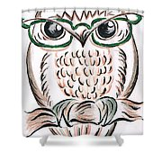 Owl- Those Spectacles  Shower Curtain