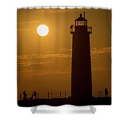 Oh Those Summer Nights Shower Curtain