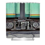 Those Wheels Keep On Turning In Rome Italy Shower Curtain