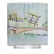 Thought Pad Series Page 1 Shower Curtain