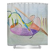 Thought Pad Series Page 2 Shower Curtain