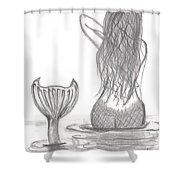 Thoughtful Mermaid Shower Curtain