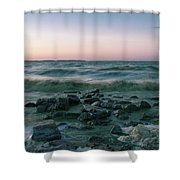 Thoughtful River Shower Curtain