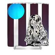 Thoughtful Stevie Shower Curtain