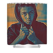Thoughtful Youth 11 Shower Curtain