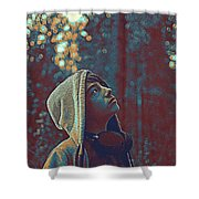 Thoughtful Youth 12 Shower Curtain