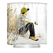 Thoughtful Youth 6 Shower Curtain
