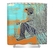 Thoughtful Youth 7 Shower Curtain
