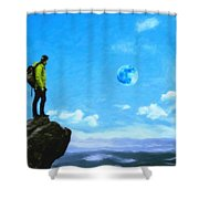 Thoughtful Youth 8 Shower Curtain