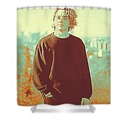 Thoughtful Youth 9 Shower Curtain