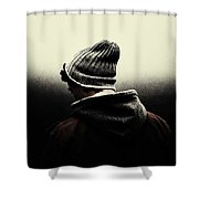 Thoughtful Youth Series 17 Shower Curtain