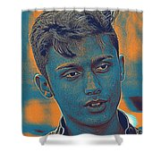 Thoughtful Youth Series 27 Shower Curtain